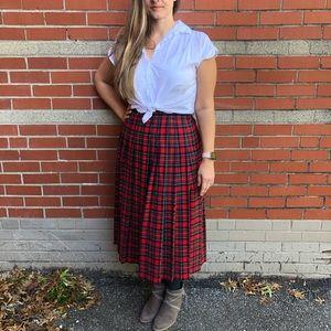 Pendleton Vintage 100% Virgin Wool Pleated Skirt